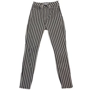 American apparel high waisted  houndstooth jeans